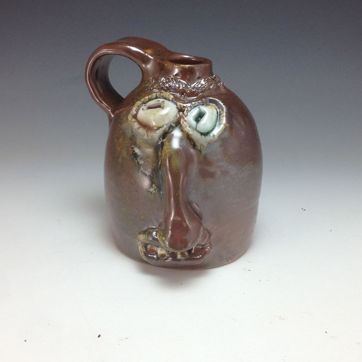 Woodfired growler #facejug #traditional #pottery