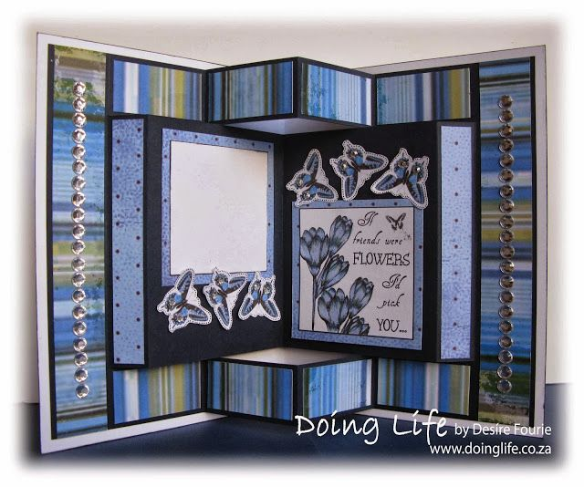 pin 1 of 2 template for a fancy tri fold card the card see