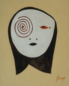 * Tête à la spirale Yves Laloy (1920-1999) Découvert par André Breton en 1958 a toujours refusé de devenir membre du mouvement surréaliste