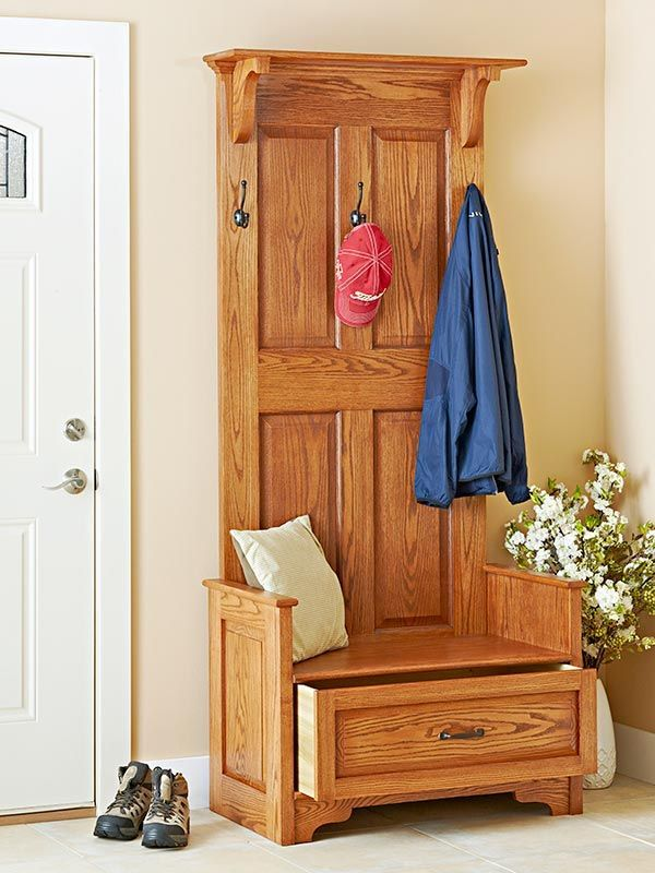 Paneled Entry Bench Woodworking Plan