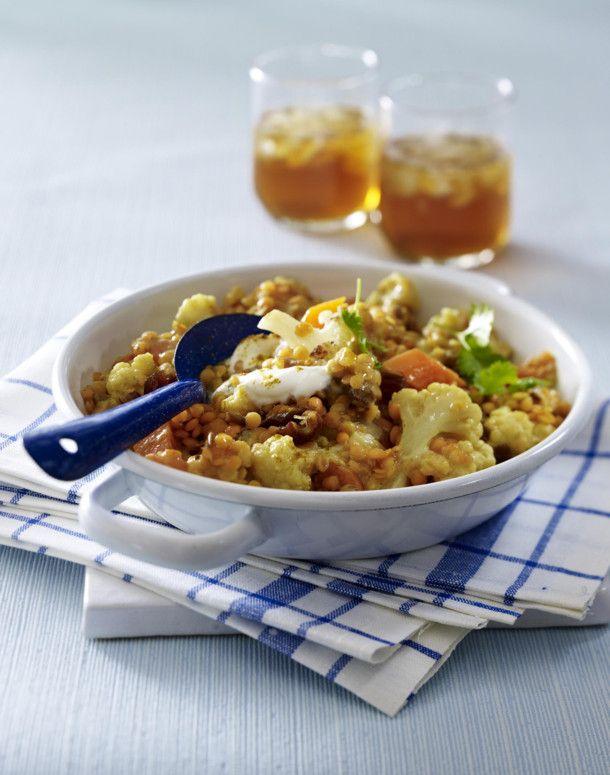 Unser beliebtes Rezept für Blumenkohl-Linsen-Curry und mehr als 55.000 weitere kostenlose Rezepte auf LECKER.de.