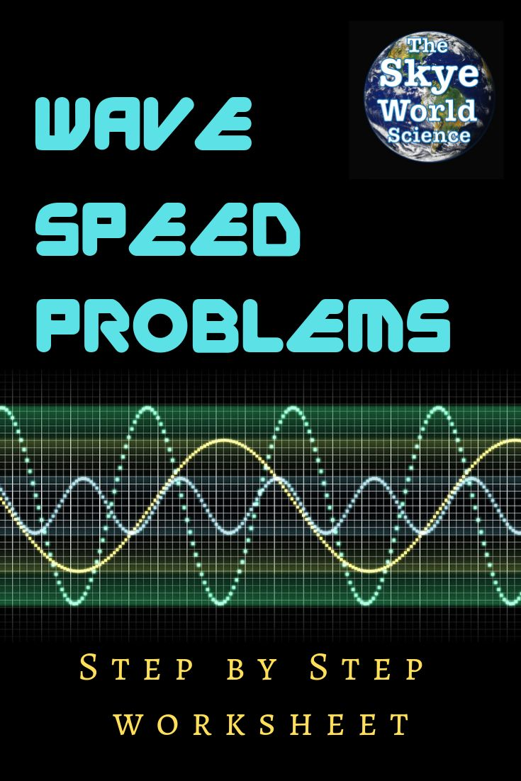 Wave Speed Problems Worksheet (With images) | Conceptual ...