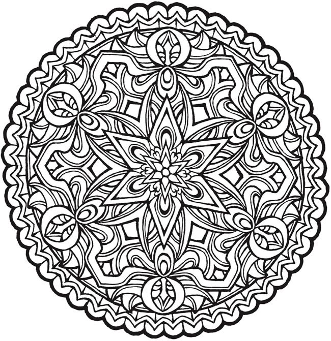 Mandala Coloring Book For Grown Ups Coloring Pages