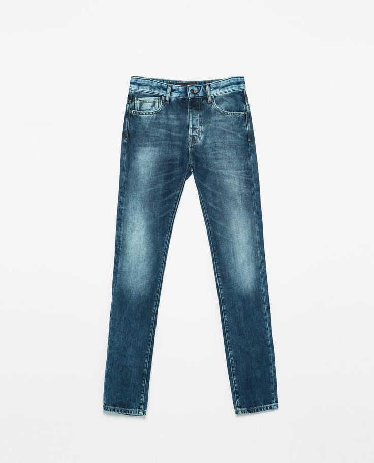 ZARA - MAN - JEANS WITH CONTRASTING POCKET AND WAISTBAND