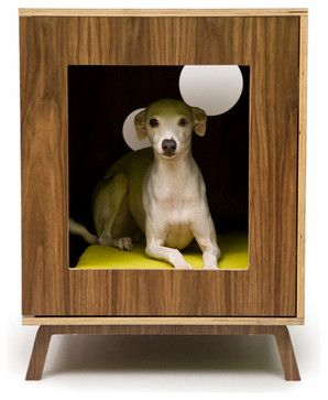 Midcentury Modern Doghouse/Side Table by Modernist Cat modern-pet-supplies