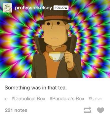 Luke, I told you to not serve instant tea. It makes me instantea anxious.<<I'm not even in this fandom and I respect that pun
