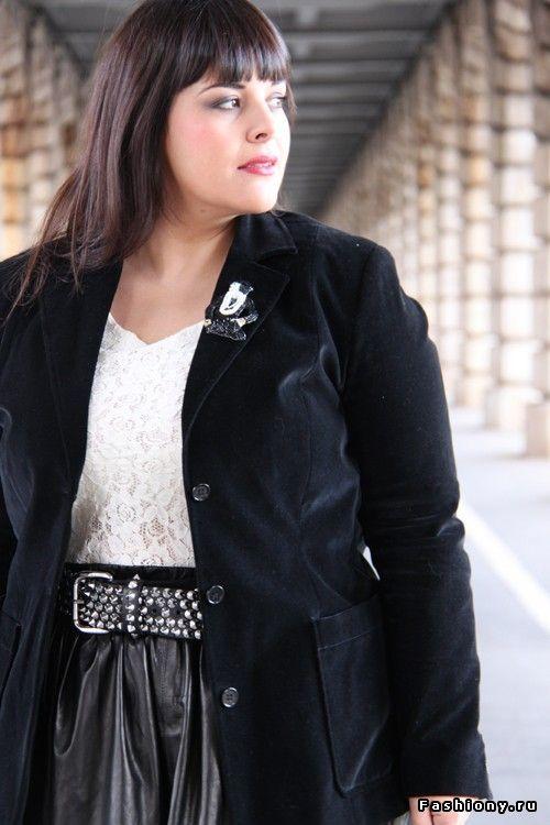 Big Beauty - стильная блоггерша с размером плюс / красивая полная женщина