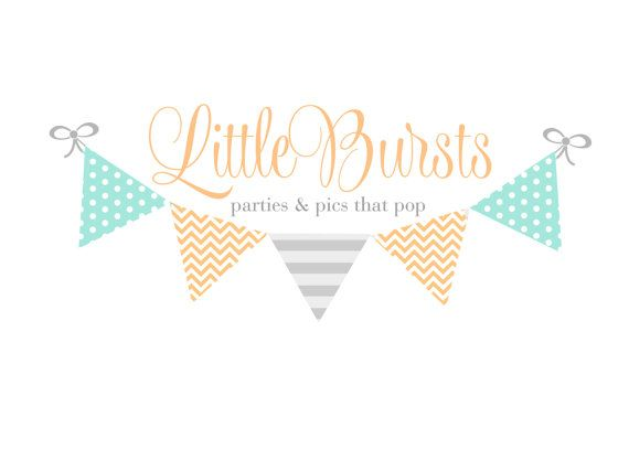 Custom Logo Design Premade Logo and Watermarks for Photographers and Small Crafty Boutiques Pattern Bunting Polka Dots and Chevron, $12...cute, affordable option!  {Fresh Lavender Designs}