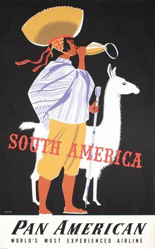 Pan Am - South America #vintage #travel #poster