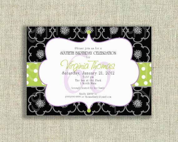Surprise Birthday 50th 60th 70th Invitation by girlsatplay on Etsy, $12.00