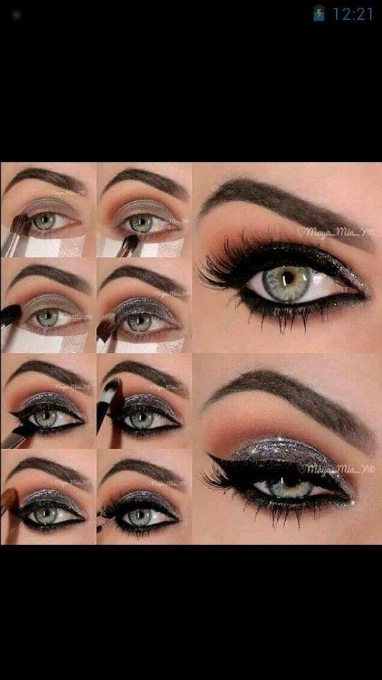 Make-up for green eyes.
