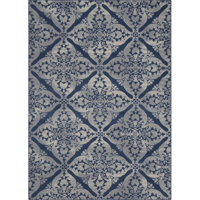 Andover Mills Blue Gray Area Rug Size X