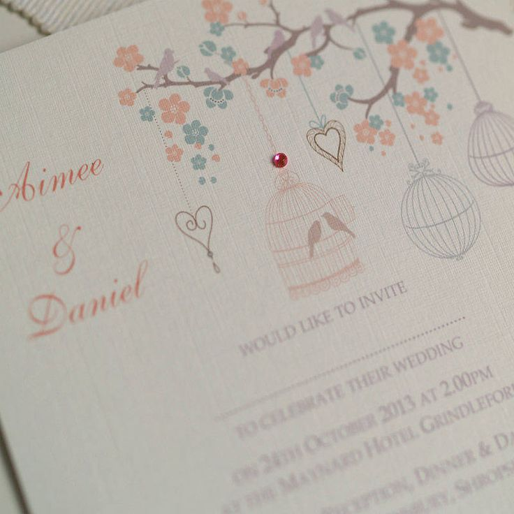 pastel wedding design invitations by beautiful day | notonthehighstreet.com