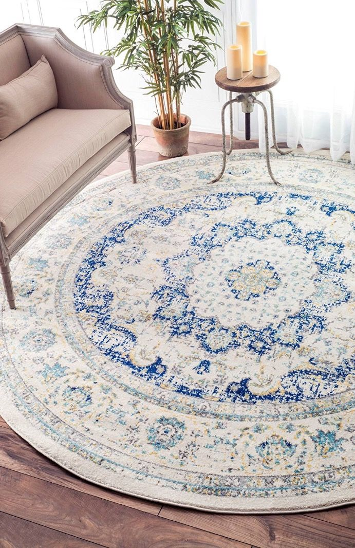 Round Rug In A Corner Space Home Decor Vintage Persian Rug Round Area Rugs