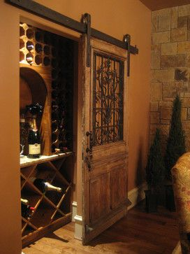 Crestwood Glencove - mediterranean - wine cellar - houston - GABRIEL HOME BUILDERS INC