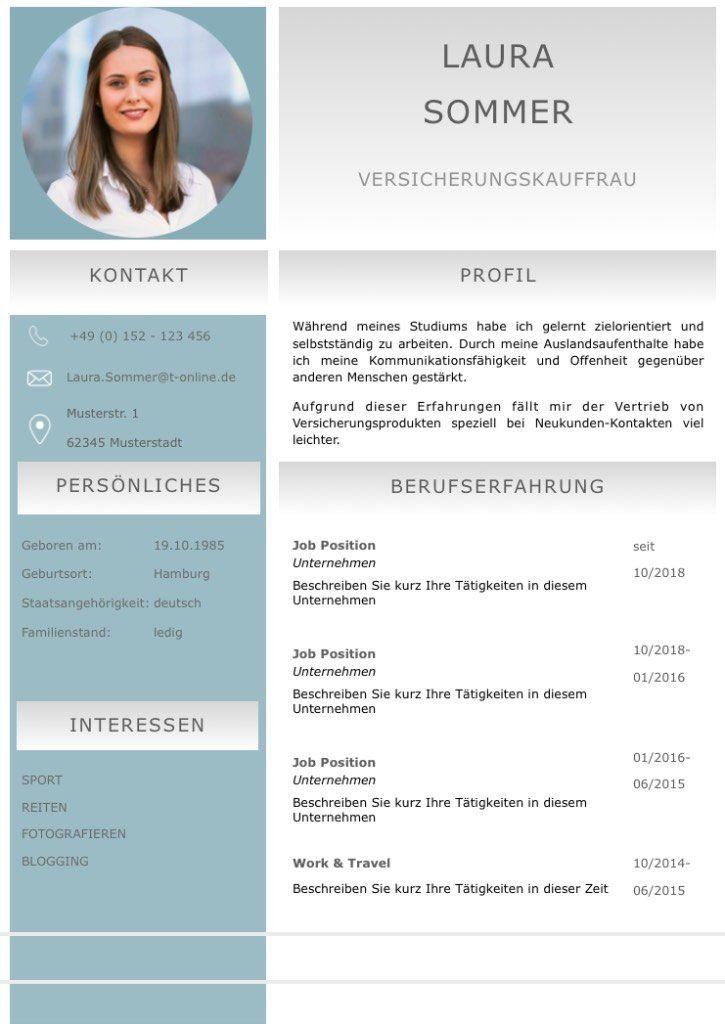 Lebenslaufvorlage Cv Emerald Candidate In Deutsch Download
