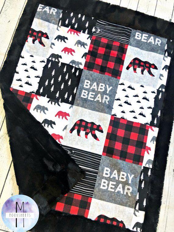 Buffalo Check Minky Blanket Etsy Minky Baby Blanket Minky Blanket Blanket