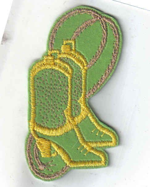 Green and Yellow Boots and Rope 1970's New Vintage by TesoroViejo