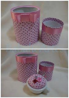 Latas decoradas * Potes decorados - Blog Pitacos e Achados -  Acesse…
