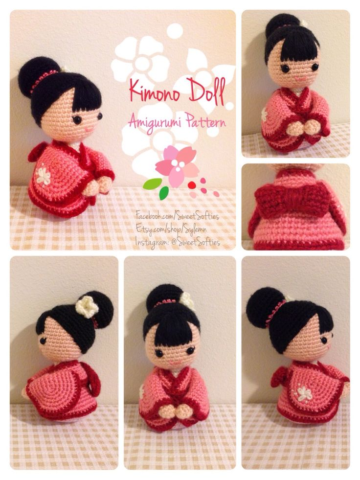 Who wants this adorable Japanese Kimono doll? ^_^ Perfect for a friendship gift or on display! Amigurumi Crochet Doll Pattern - Japanese Kimono Doll, Anime Girl Customizable Female Human Body Base by Sylemn on Etsy cute crochet doll amigurumi anime style traditional kawaii pattern just now