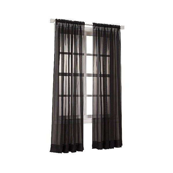 1000 ideas about black sheer curtains on pinterest