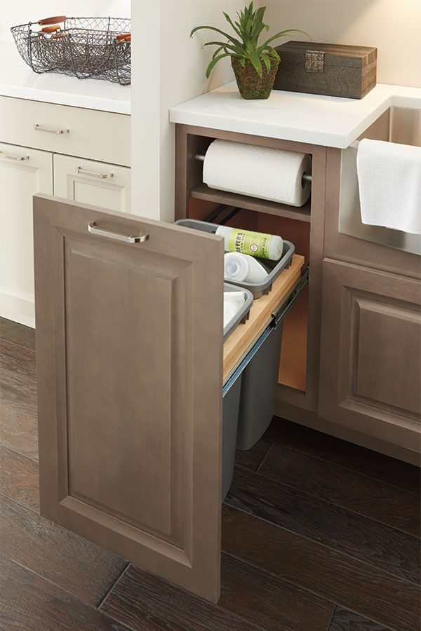 lovely Waste Baskets For Kitchen Cabinets #5: Our Base Paper Towel Cabinet with Full Height Door has an under counter  paper towel holder