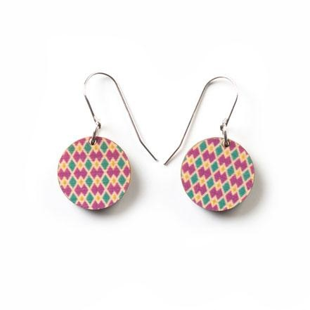 Earrings Wooden Argyle