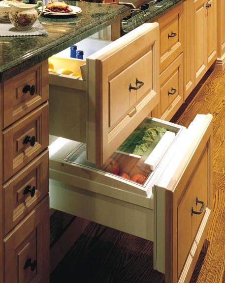 Sub-Zero 700BR Refrigerator Drawers Overlay Model: Refrig Drawers, Zero Drawers, Retirement Plans, Islands, Home Decor, Home Appliances, Drawers Overlays, Overlays Models, Sub Zero 700Br