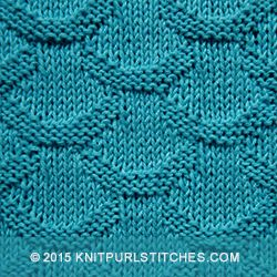 Only knit and purl stitches - Scales knitting