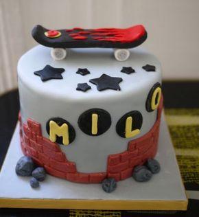 Skateboard Cake — Children's Birthday