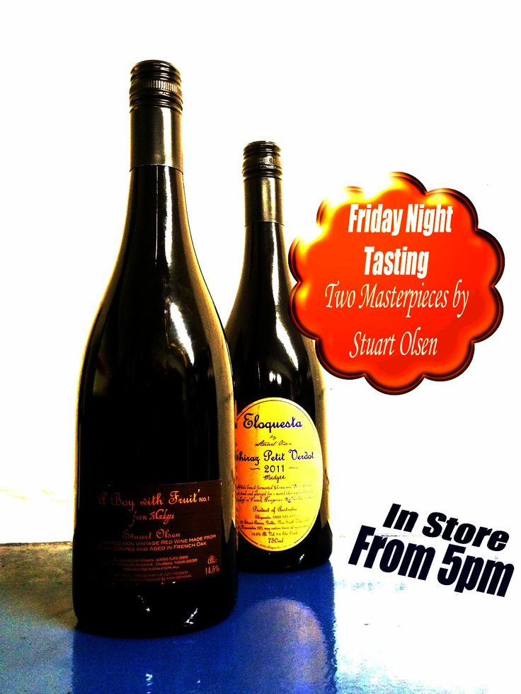 Stu Olsen from @Eloquesta wines is in store tonight. Come for a free taste! #wine #mudgee