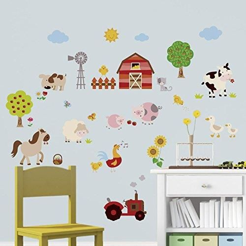 Farm Friends Baby/Nursery Peel & Stick Wall Art Sticker Decal http://audrisnursery.com/s/farm-friends-babynursery-peel-stick-wall-art-sticker-decal/