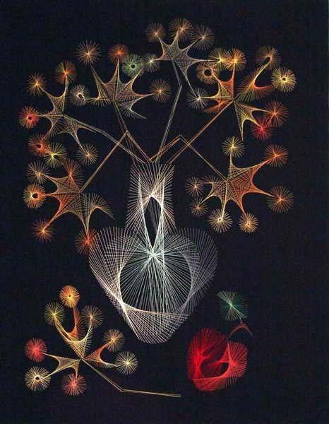 Волшебная изонить (схемы, шаблоны)