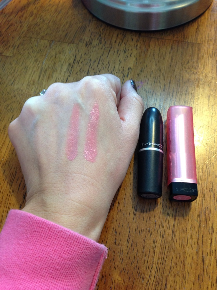Dupe! Mac cream cup and Revlon lip butter in strawberry shortcake!