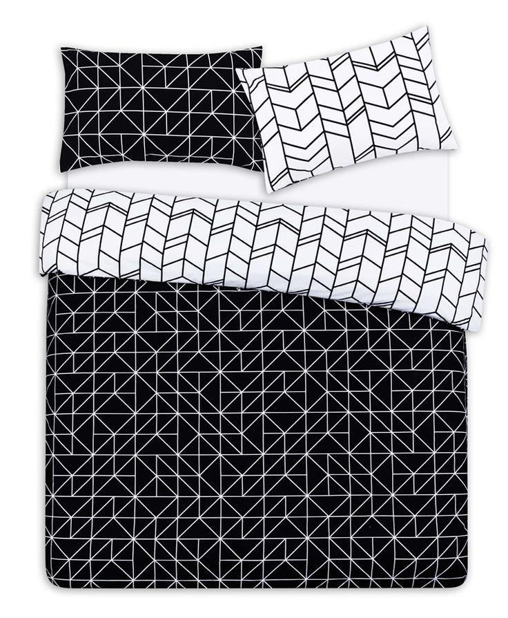 Primark - Roupa de cama king geo monocrom�tico