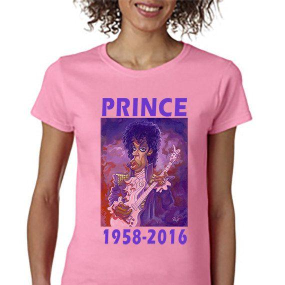Prince 1958-2016 Memorial T-shirt Wallenfang Art by DesignerTeez
