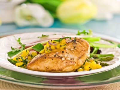 Low-Fat Chicken Piccata With Green Beans Recipe
