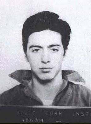Cutest mug shot there ever was - ha! (Al Pacino)