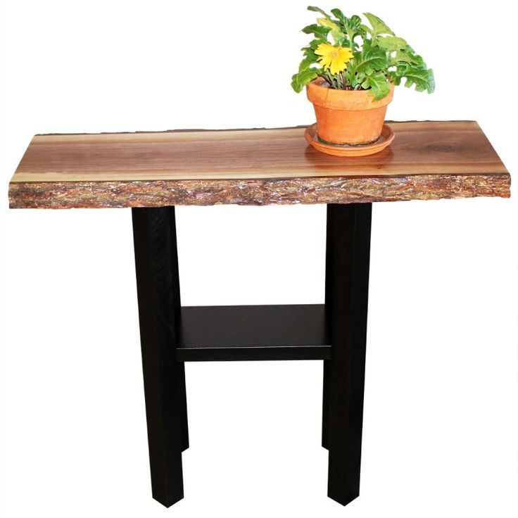 Browse Country Lane Furnitureu0027s Amish Live Edge Coffee Tables Like This  Walnut Live Edge Console Table With Custom Sizes And Wood Species Available.