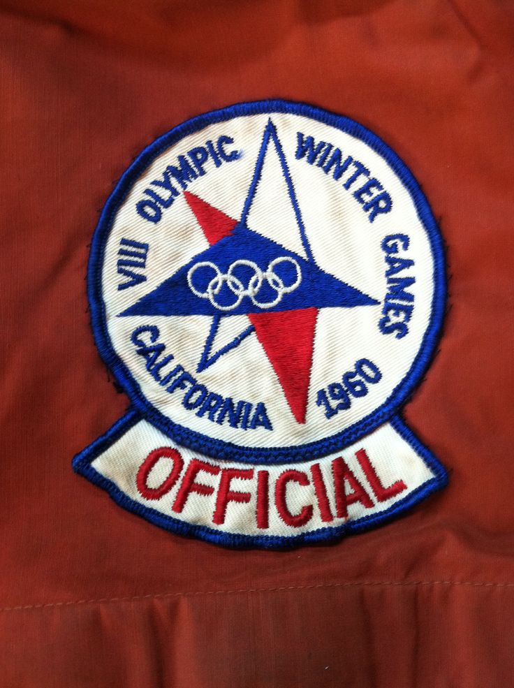 1960 Winter Olympics Vintage Patches Pinterest