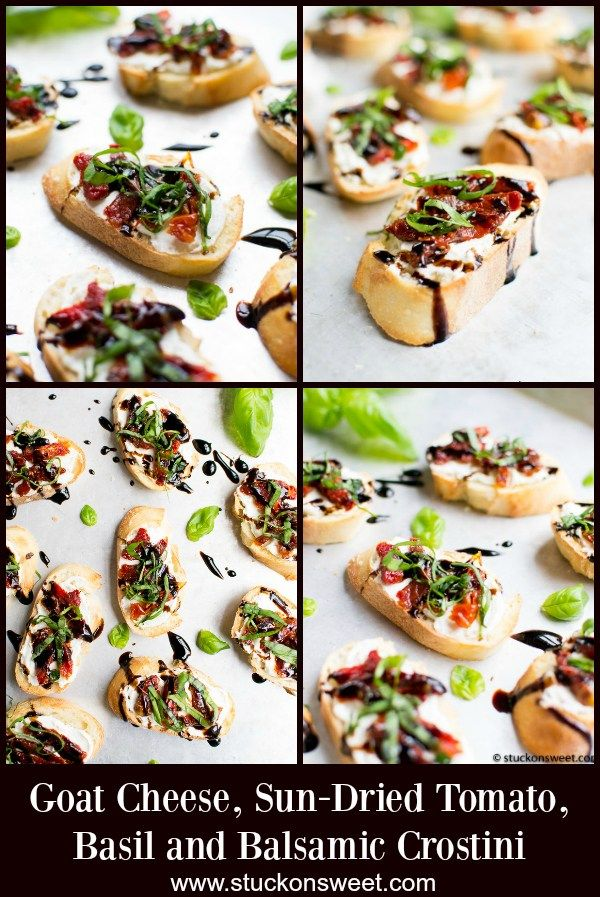 Goat Cheese And Sun Dried Tomato Crostini Recipe Quick Easy