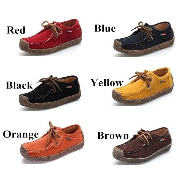 6 Colors Women Genuine Leather Shoes Casual Flats Woman Hand Sewn Suede Loafer Size Us5 10 5 Eu 35 42 Wish Leather Shoes Woman Genuine Leather Shoes Casual Shoes