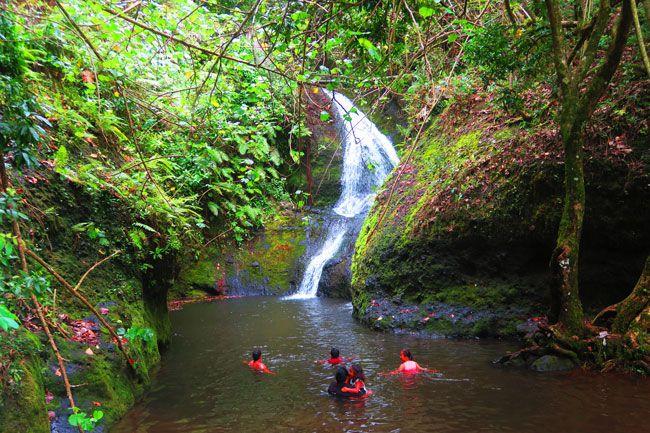 Wigmores waterfall cross island track Rarotonga Cook Islands