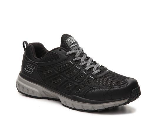 Men's Men Skechers Geo-Trek Training Shoe -Black/Grey - Black/Grey