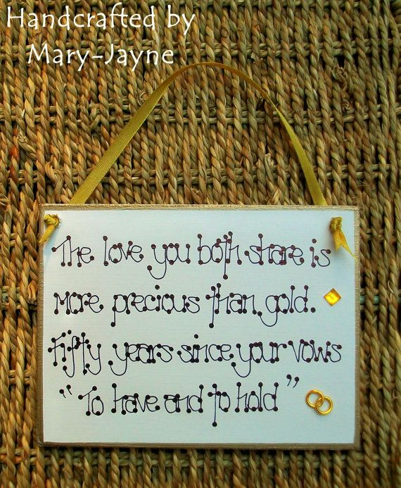 To Have And To Hold  Golden Wedding Anniversary by byfairydust, $12.95