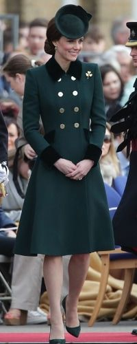 17 Mar 2017 - Duchess of Cambridge attends St Patrick's Day parade with Irish Guards