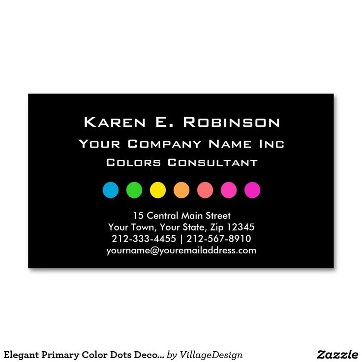 The 35 best trendy business cards images on pinterest business elegant primary color dots decorator consultant business card reheart Gallery