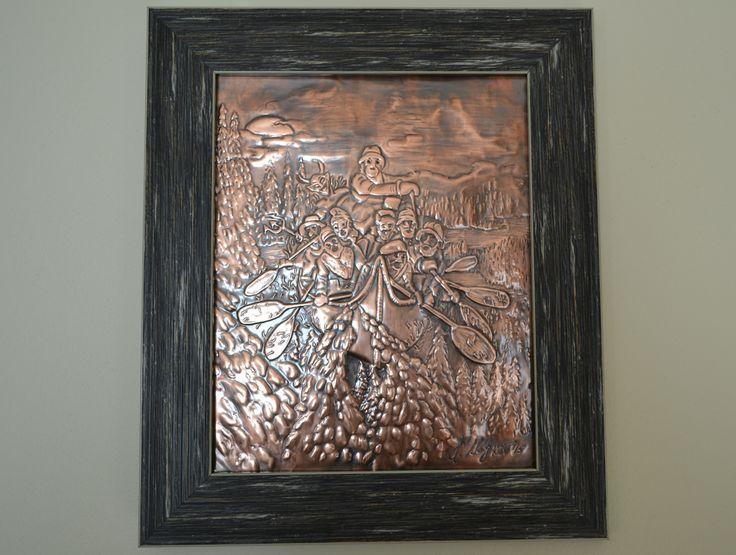 La Chasse galerie, cuivre repoussé
