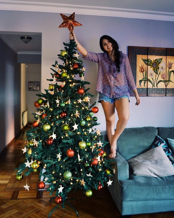 Mission accomplished! It took us about three hours to do it. We had some technical problems with the lights but we made it work. Today is the first day of blogmas  and Im very excited about that! Its my first year doing it and I hope I can handle all the pressure lol. Today on the blog Ill be sharing my Christmas wishlist. Whats in your wishlist? As always... link in bio!  #christmastree #blogmas