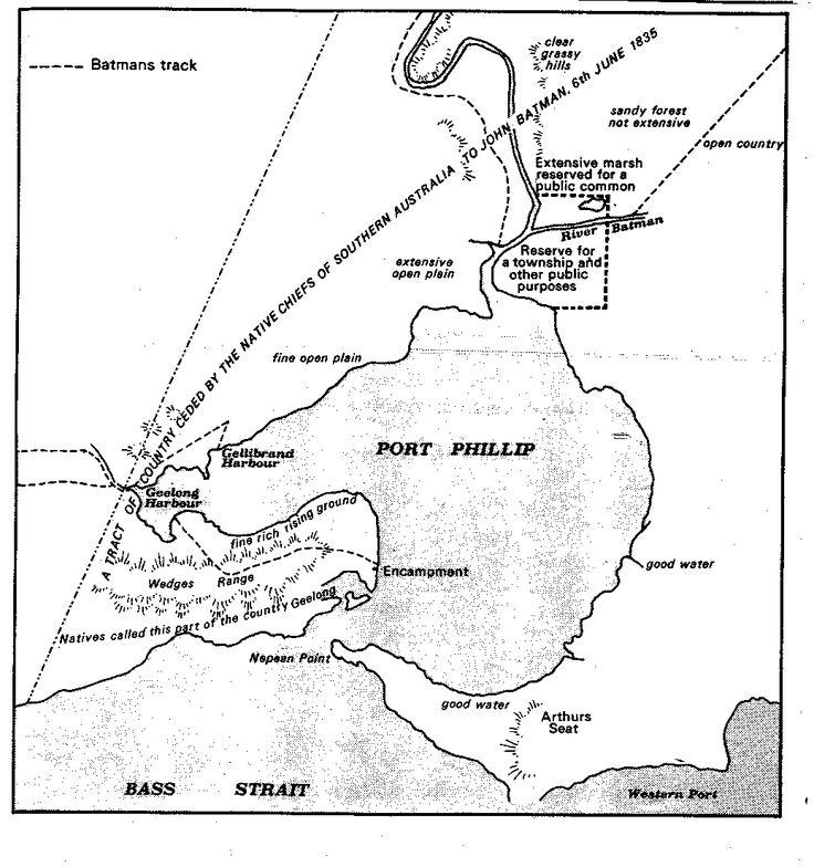 WHEN 1835 - Batman Map of Melbourne 1835